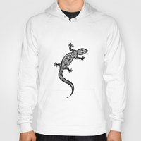 southwest Hoodies featuring Southwest Gecko by Lisa Argyropoulos