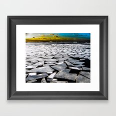 Broken ice floes Framed Art Print
