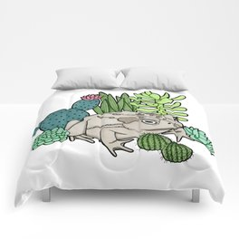 Toad with Succulents Comforters