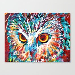 Who In Blue Canvas Print