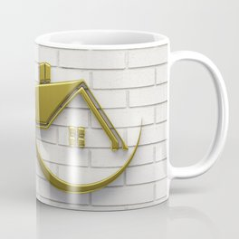 Golden Eco Friendly House Coffee Mug