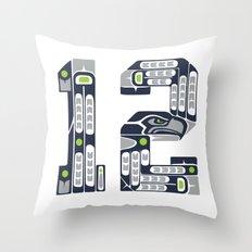 Seattle 12th Man Throw Pillow