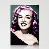 rockabilly Stationery Cards featuring Rockabilly Marilyn by Tamsin Lucie