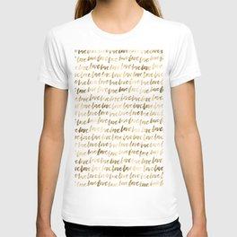 Gold Love Pattern T-shirt