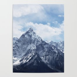 Snowy Mountain Peaks Poster