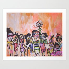 Celebrate love Art Print