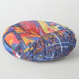 Times Square New York Floor Pillow
