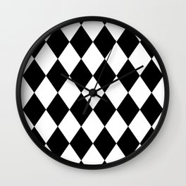 Diamonds (Black/White) Wall Clock