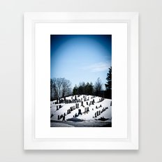 i see skies of blue Framed Art Print