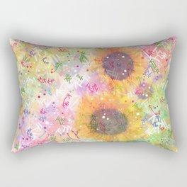 Cosmic Helianthus - Sunflowers Rectangular Pillow
