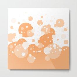 Orange Pastel Bubble Metal Print