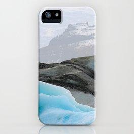 scandinavian art print, geometric wall decor, geometric abstract art, iceland, minimalist art blue, minimalist abstract art , nature wall art iPhone Case