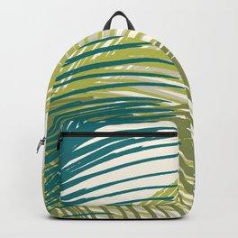 Palm Silhouette Series - Hawaiian Greenery Palette Backpack