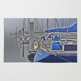 N is for Nautical (Sailboat) Rug