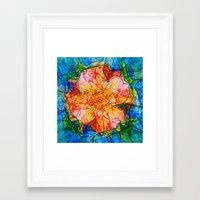 reassurance Framed Art Prints featuring Flower III by Magdalena Hristova