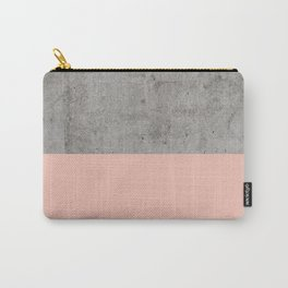 Pale Pink on Concrete Carry-All Pouch