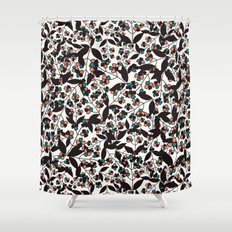 Tangled spring branches and flowers Shower Curtain