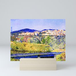 Catanzaro: view of the city with bridges Mini Art Print