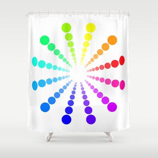 dots & circles o2 Shower Curtain