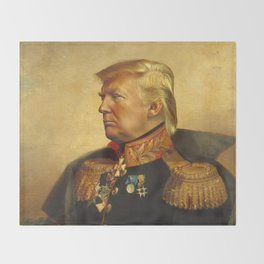 Donald Trump - replaceface Throw Blanket