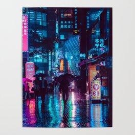Myeongdong at night Poster