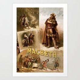 Vintage Macbeth Theatre Poster Art Print