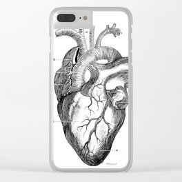 Anatomic hearth engraving Clear iPhone Case
