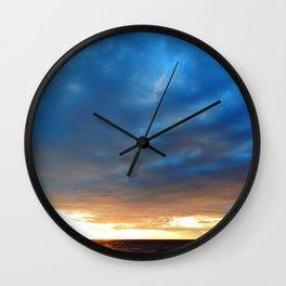 Heavy Cloud Over the Setting Sun Wall Clock