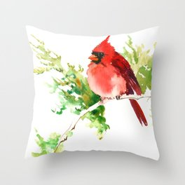 Cardinal Bird, stet birds decor design cardinal bird lover gift Throw Pillow