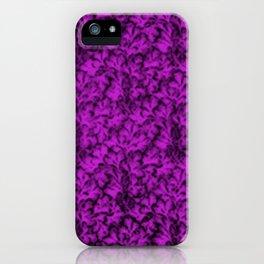 Vintage Floral Lace Leaf Dazzling Violet iPhone Case