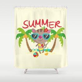 Hello, summer Shower Curtain