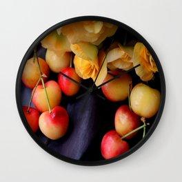 Cherry Gold Wall Clock