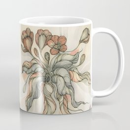 vintage Hand drawn coloring crocus. Watercolor paper, watercolor, ink and pen Coffee Mug