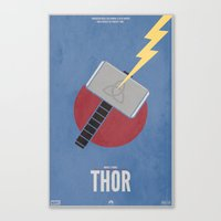 thor Canvas Prints featuring Thor by Steal This Art