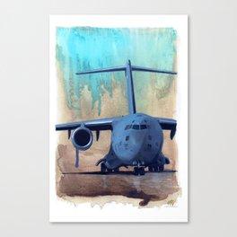 Teal Sandstorm Canvas Print