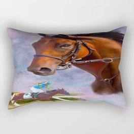 American Pharoah Rectangular Pillow