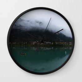 Reservoir On The Soca River Wall Clock