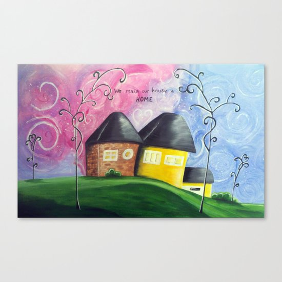 House A Home Canvas Print
