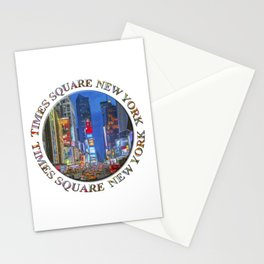 Times Square New York Badge Emblem Stationery Cards