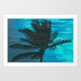 SWIMMING PALM Art Print