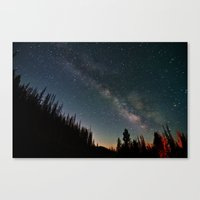 milky way Canvas Prints featuring Milky Way by Davies Babies Photography