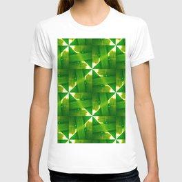 Abstract green grass geometric design T-shirt