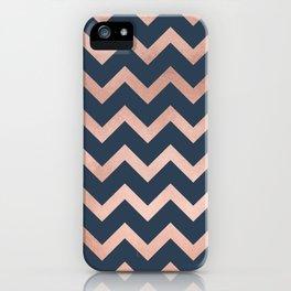Blue & Pink Chevron iPhone Case