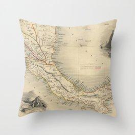Vintage Map of Panama (1851) Throw Pillow
