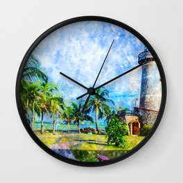 Nature Lighthouse Wall Clock
