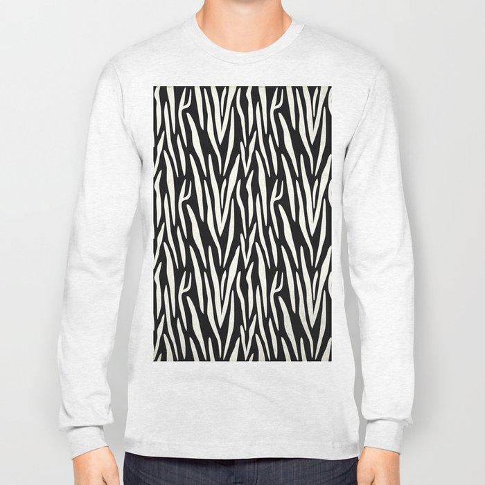 Zebra Print Long Sleeve T-shirt