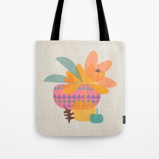 Tropical Fruit Basket Tote Bag
