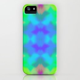 Rainbow Multicolored Watercolor Abstract Tie Dye iPhone Case