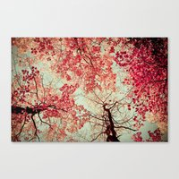 shower Canvas Prints featuring Autumn Inkblot by Olivia Joy StClaire