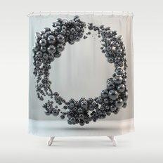 Black bubble Shower Curtain